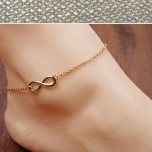 Gold-plated Infinity anklet